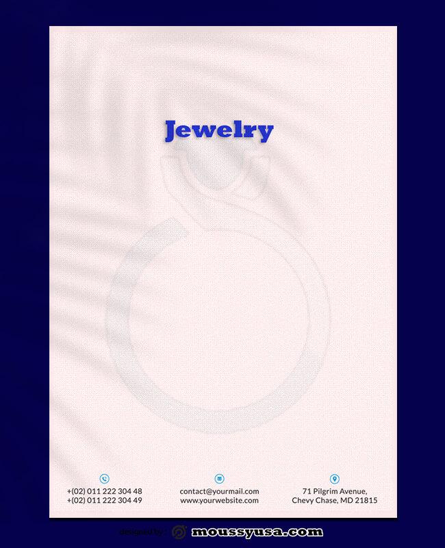 Jewelry Letterhead Templates Design