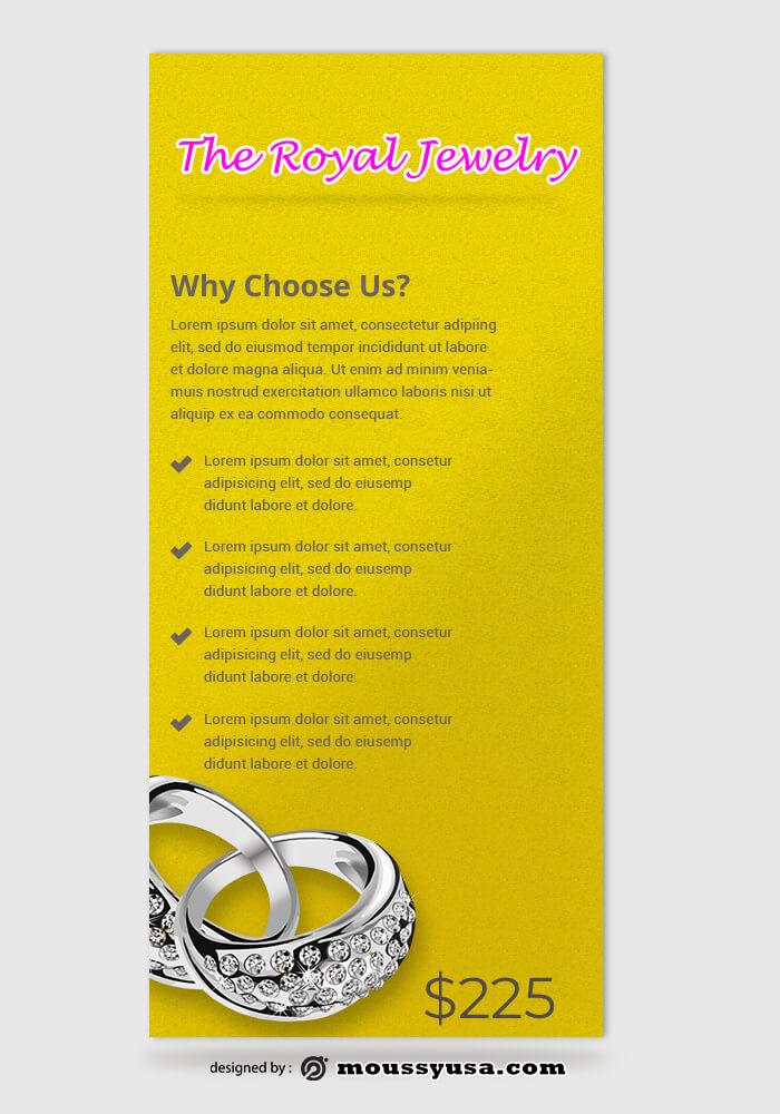 Jewelry Rack Card Design Ideas