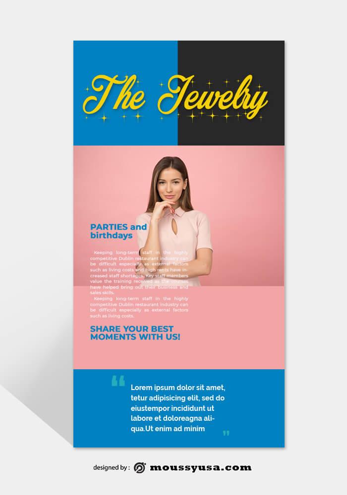 Jewelry Rack Card Design PSD