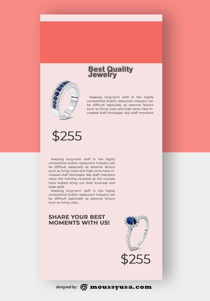 Jewelry Rack Card Design Template