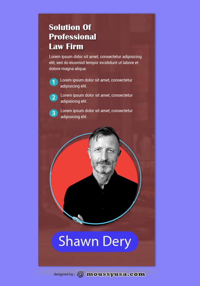 Law Frim Rack Card Design Template