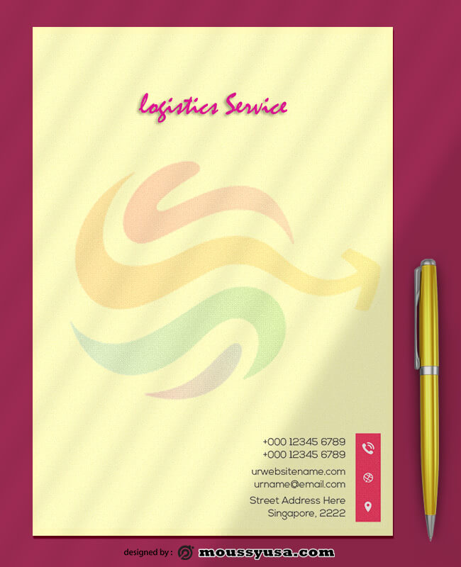 Logistics Service Letterhead Template Ideas