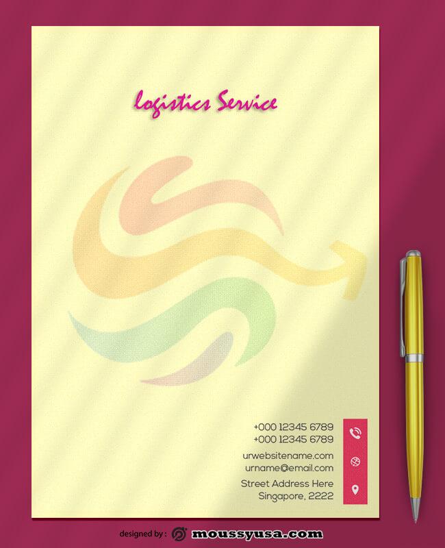 Logistics Service Letterhead Template Ideas