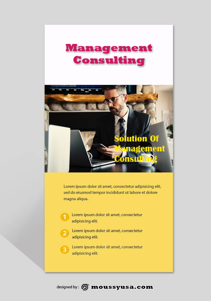 Management Consulting Rack Card Design Template