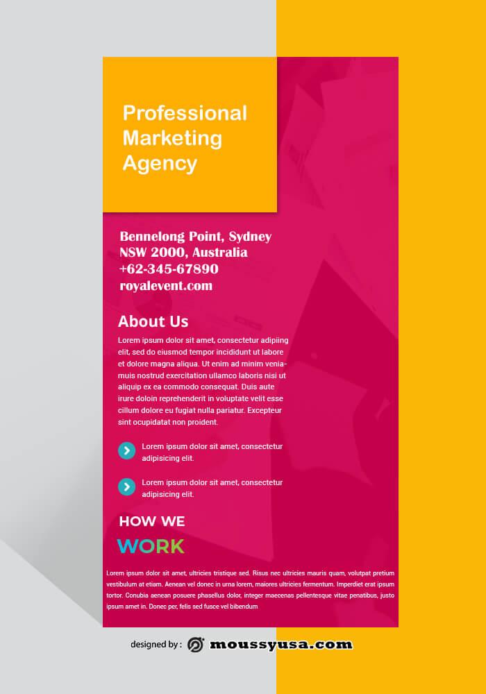 Marketing Agency Rack Card Design PSD
