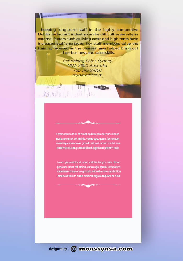 Marketing Agency Rack Card Design Template