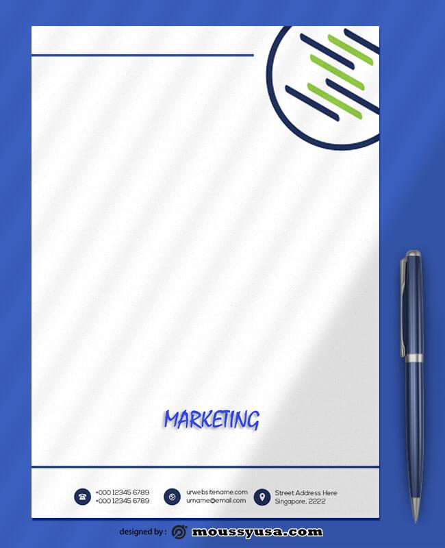 Marketing Letterhead Design PSD