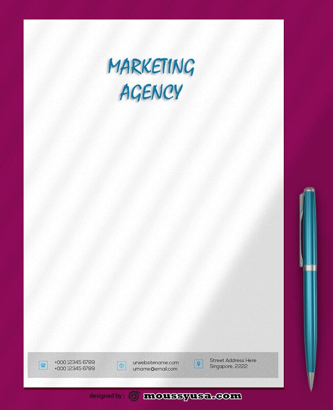 Marketing Letterhead Design Template