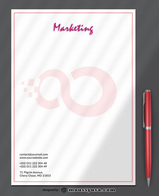 Marketing Letterhead Template Example