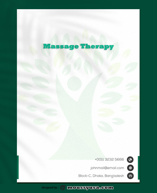 Massage Therapy Letterhead Design Template