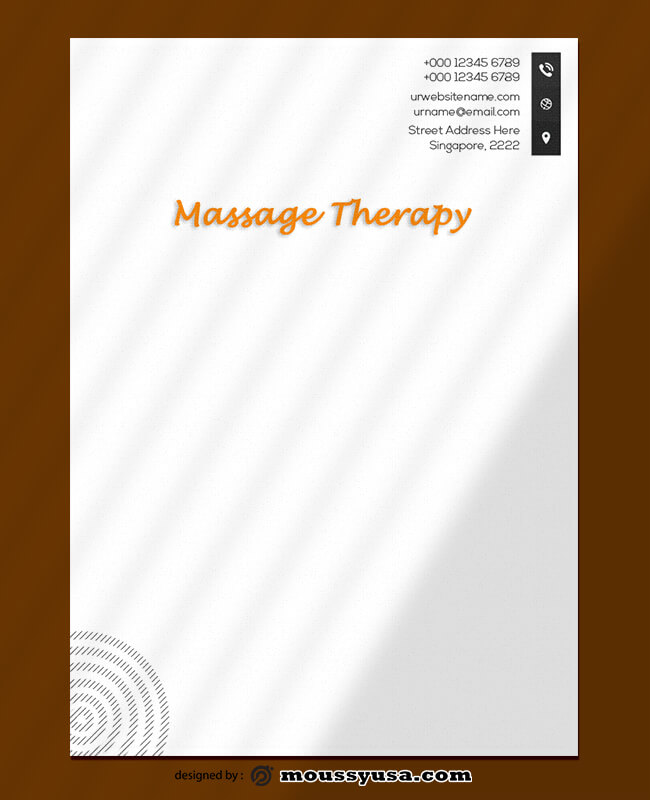 Massage Therapy Letterhead Template Example