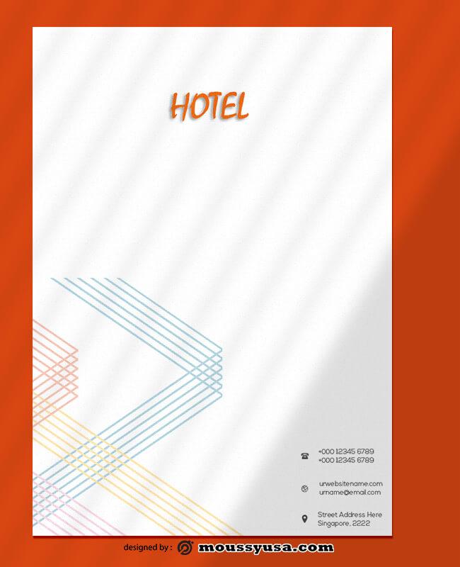 Modern Hotel Letterhead Template Example