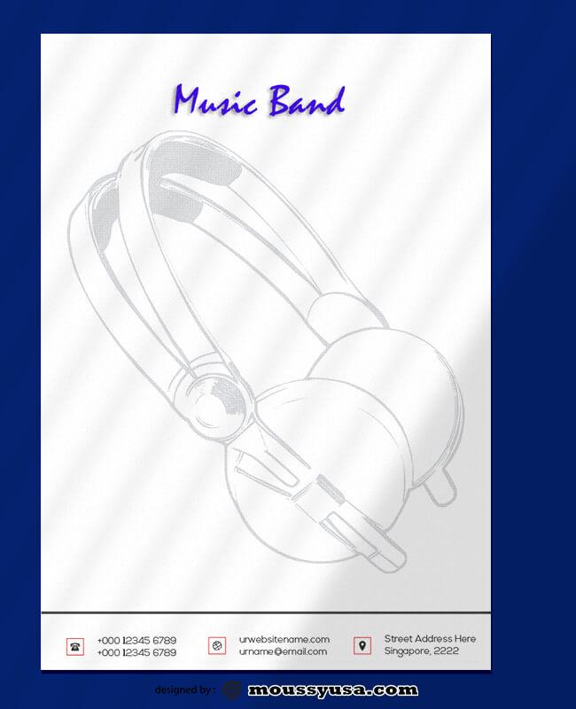 Music Band Leterhead Design Ideas
