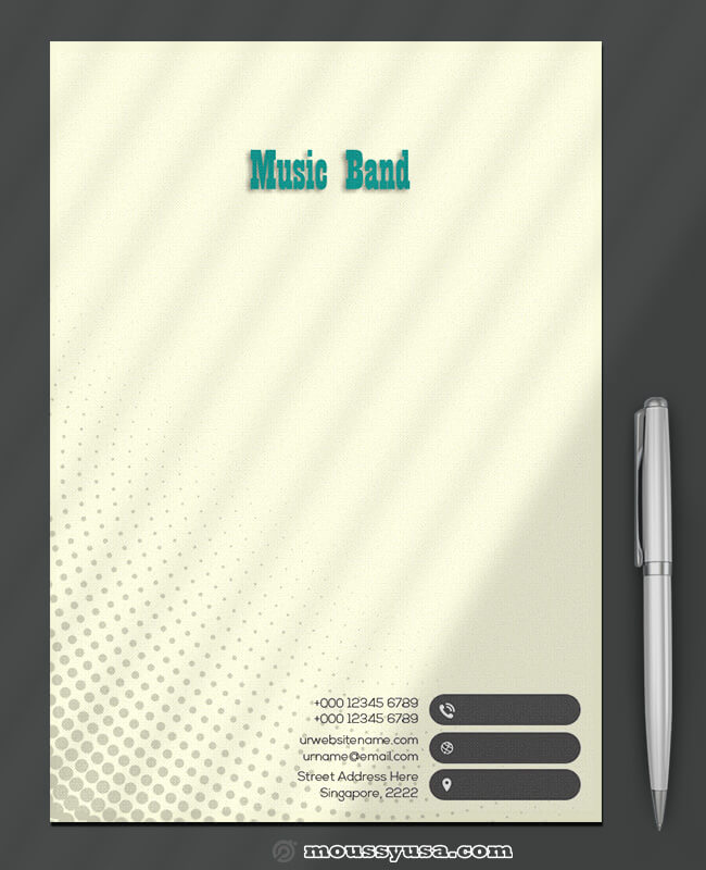 Music Band Leterhead Design Template