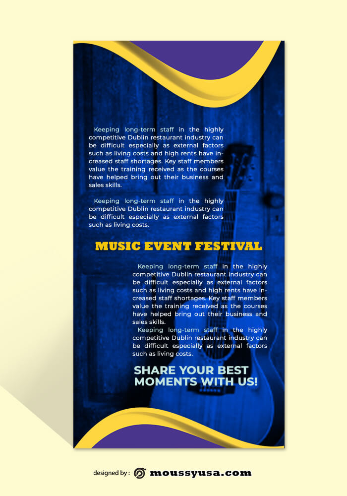 Music Festival Rack Card Template Ideas