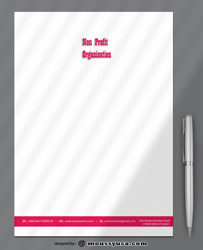 Non Profit Letterhead Template Sample