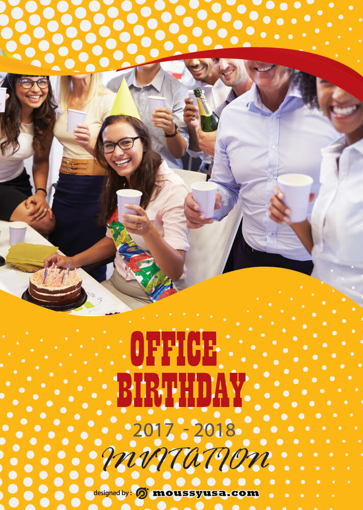 Office Birthday Invitation Design Template