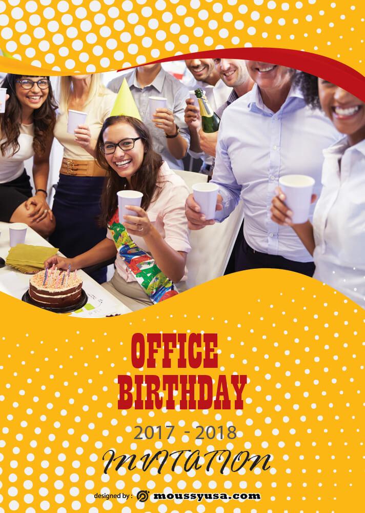 Office Birthday Invitation Design Template