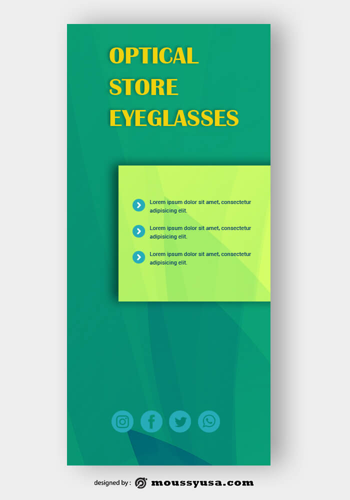 Optical Sore Rack Store Template Sample