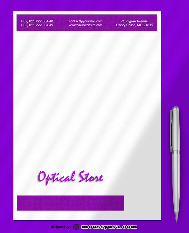 Optical Store Letterhead Design Ideas