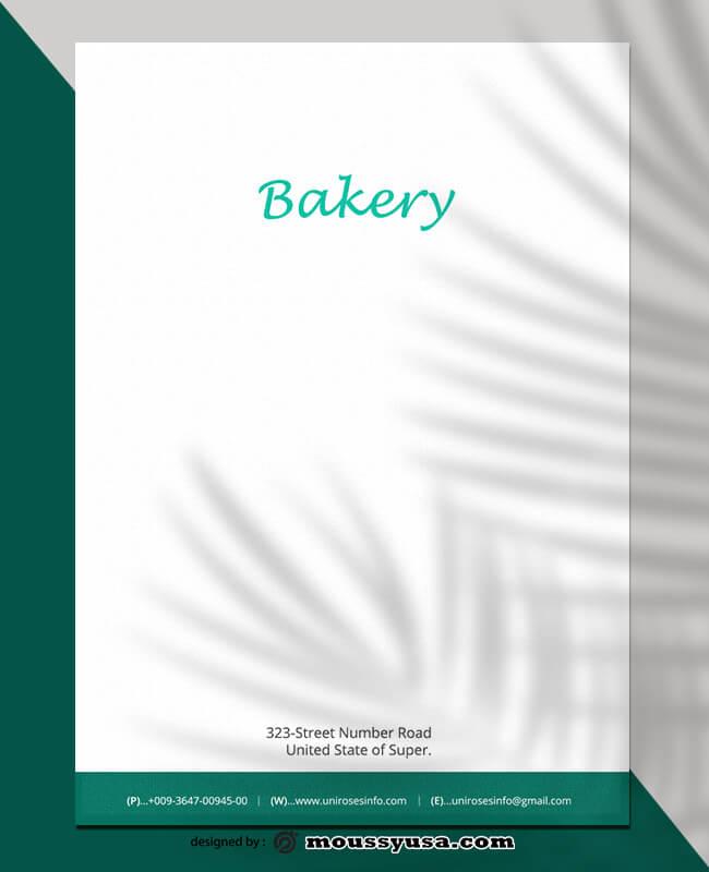 PSD Bakery Letterhead Template