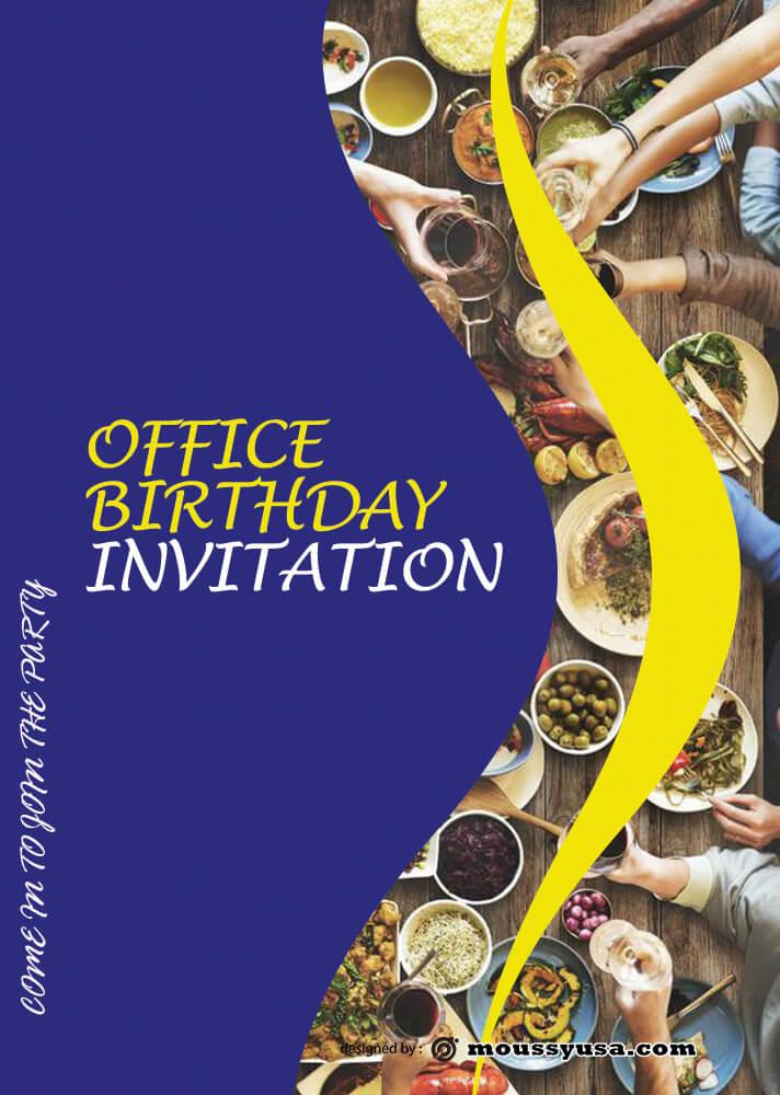 PSD Birthday Invitation Design Template