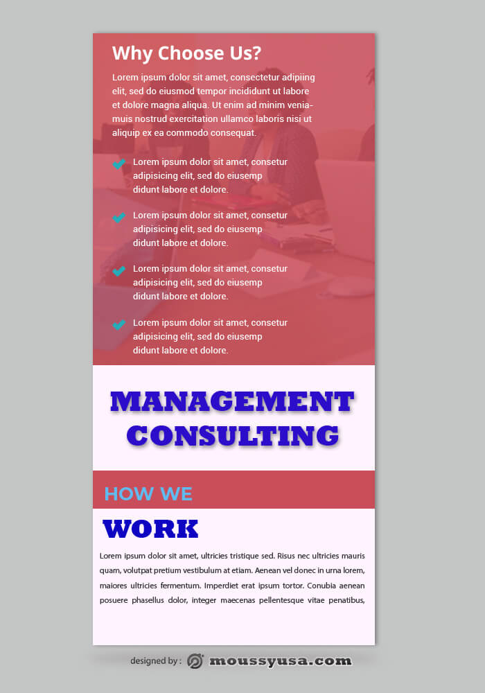 PSD Management Consulting Rack Card Template