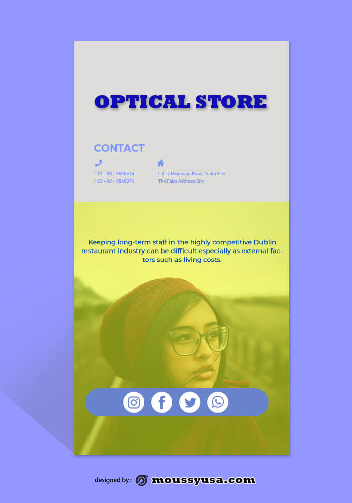 PSD Optical Sore Rack Store Template