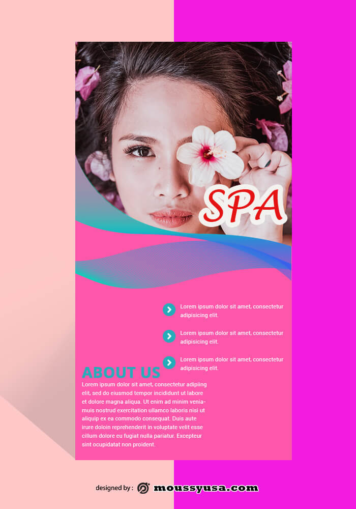 PSD SPA Rack Card Template
