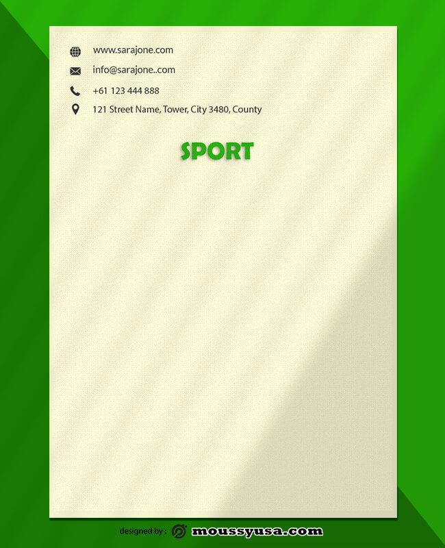 PSD Sports Letterhead Template