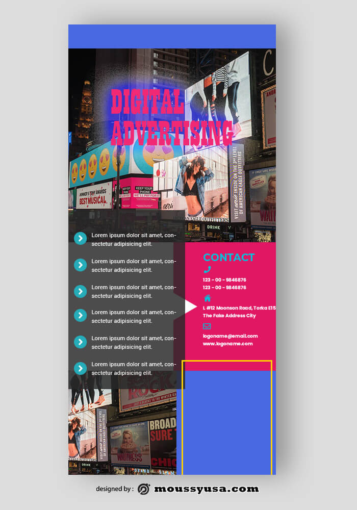 PSD Template For Advertising Agency Rack Card