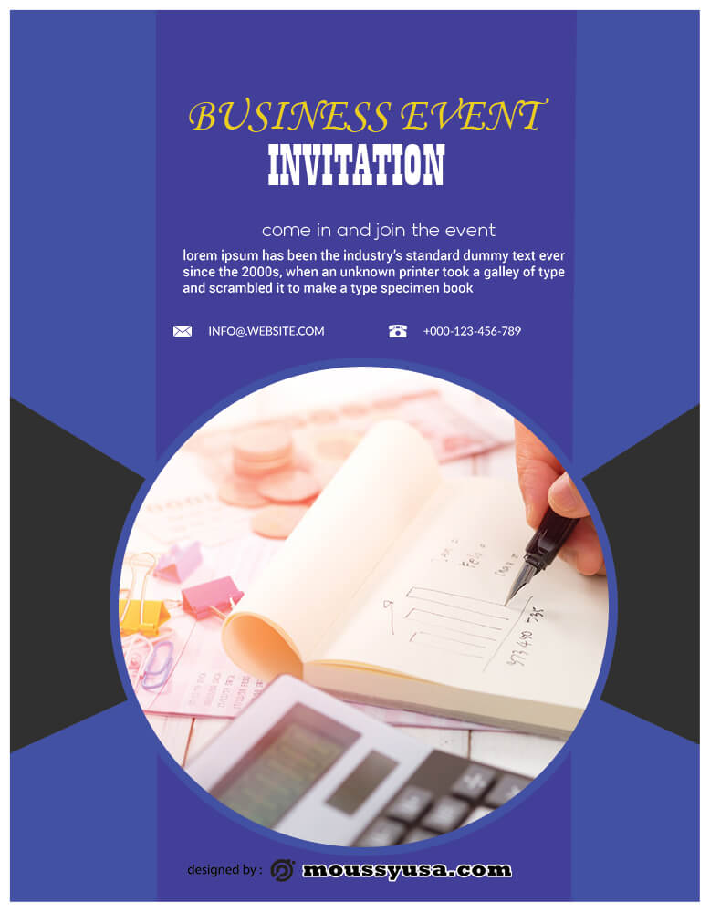 PSD Template For Business Event Invitation