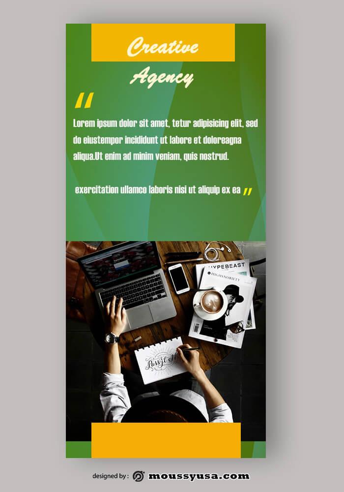 PSD Template For Creative Agency Rack Card