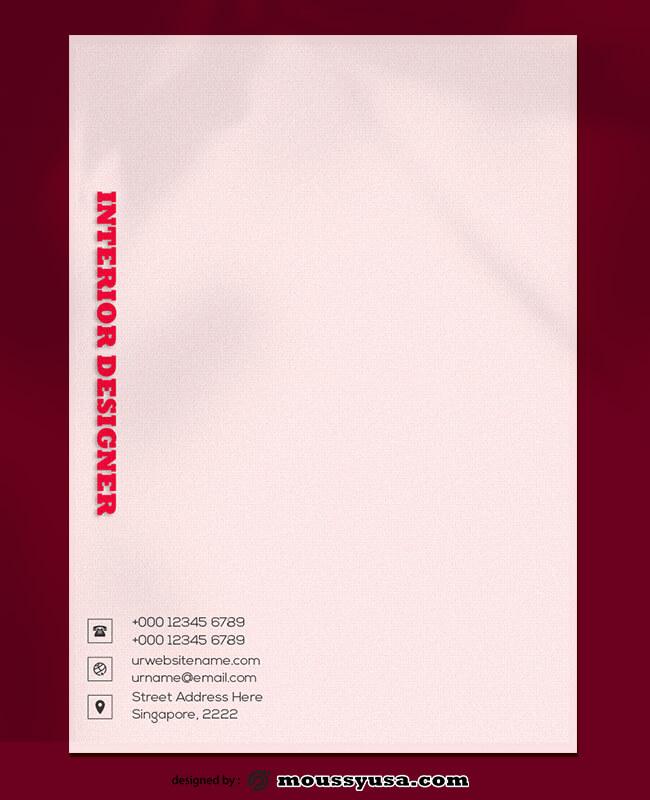 PSD Template For Interior Designer Letterhead