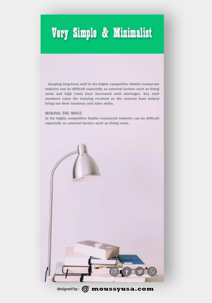 PSD Template For Minimalist Rack Card