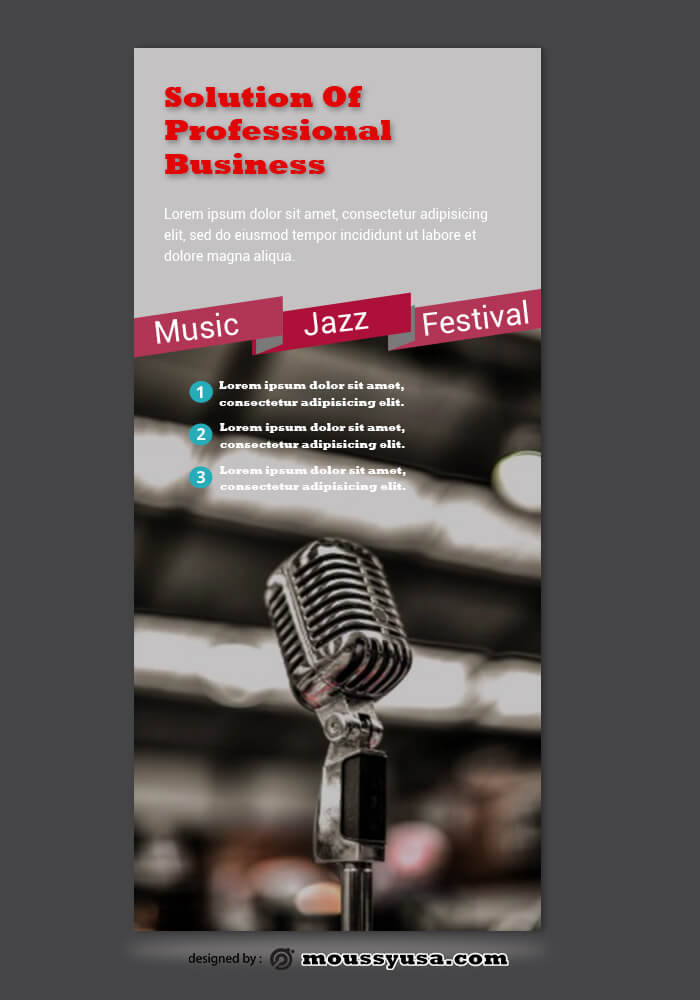 PSD Template For Music Festival Rack Card