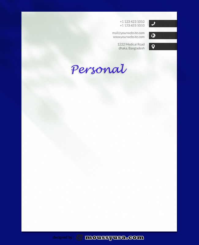 PSD Template For Personal Letterhead