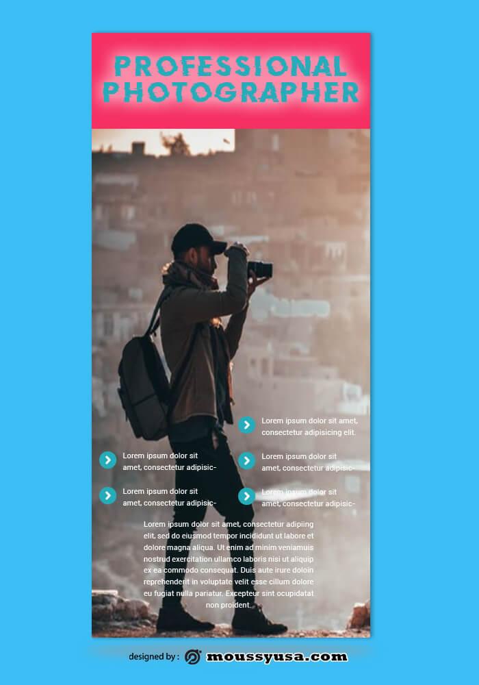 PSD Template For Photographer Rack Card