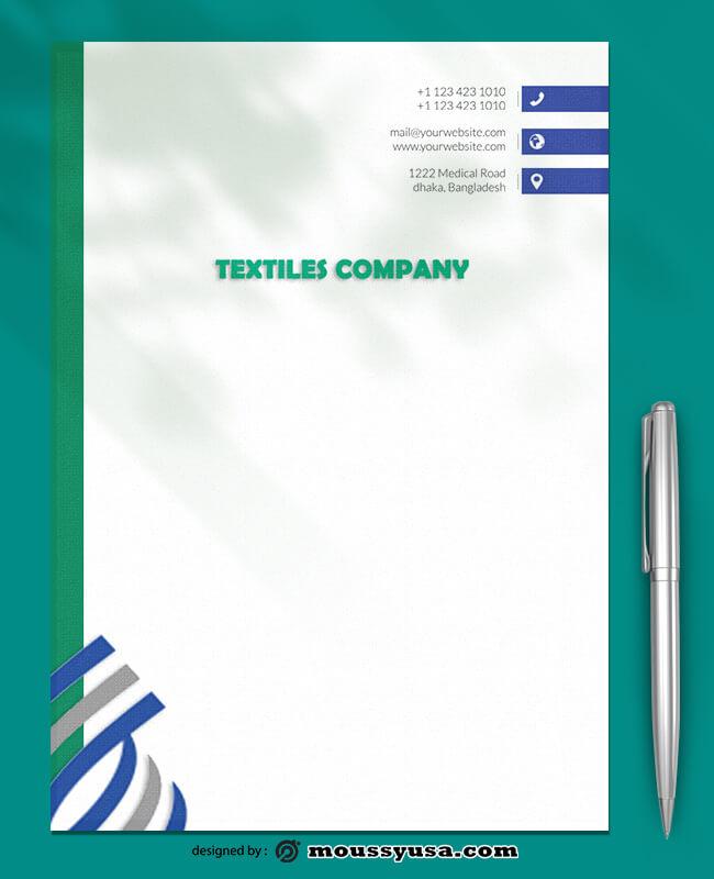 PSD Textiles Company Letterhead Template