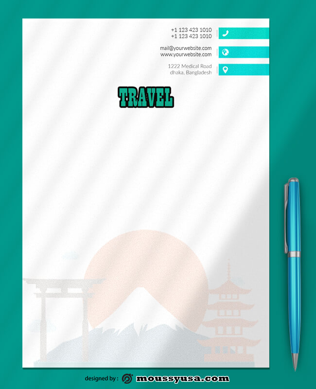 PSD Travel Agency Letterhead Template