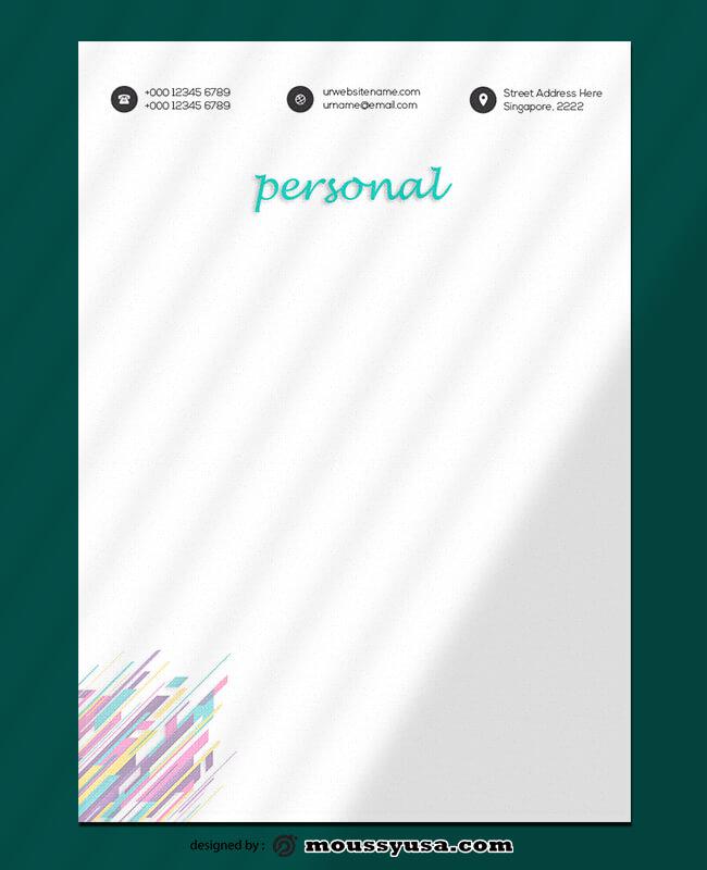 Personal Letterhead Template Design