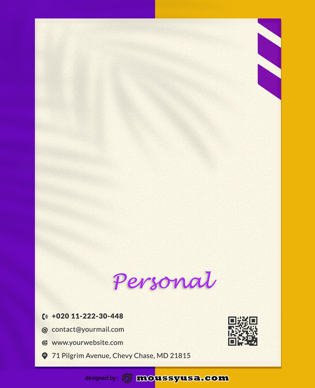 Personal Letterhead Template Example