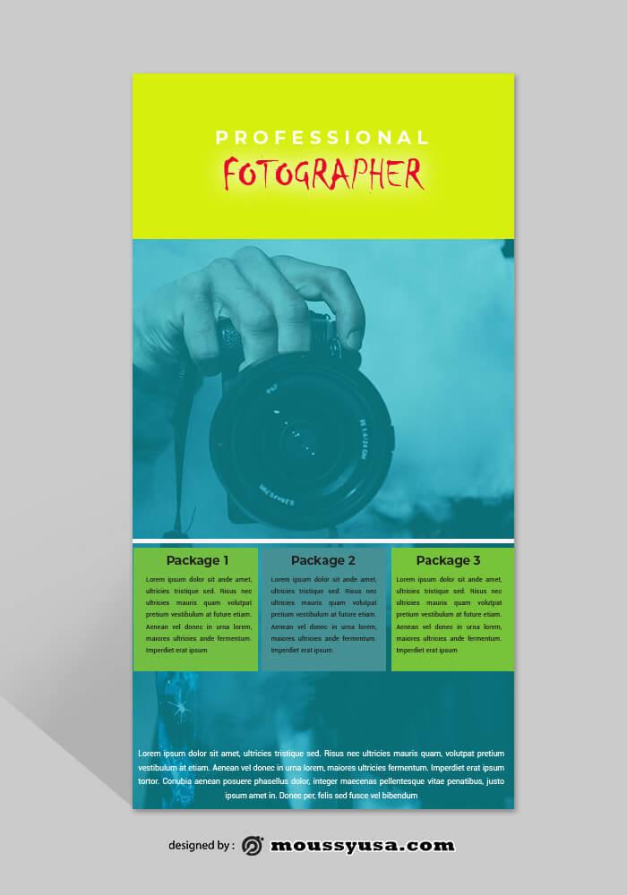 Photographer Rack Card Template Ideas