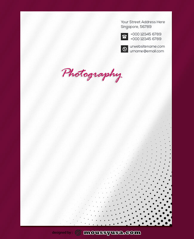 Photography Letterhead Templates Ideas