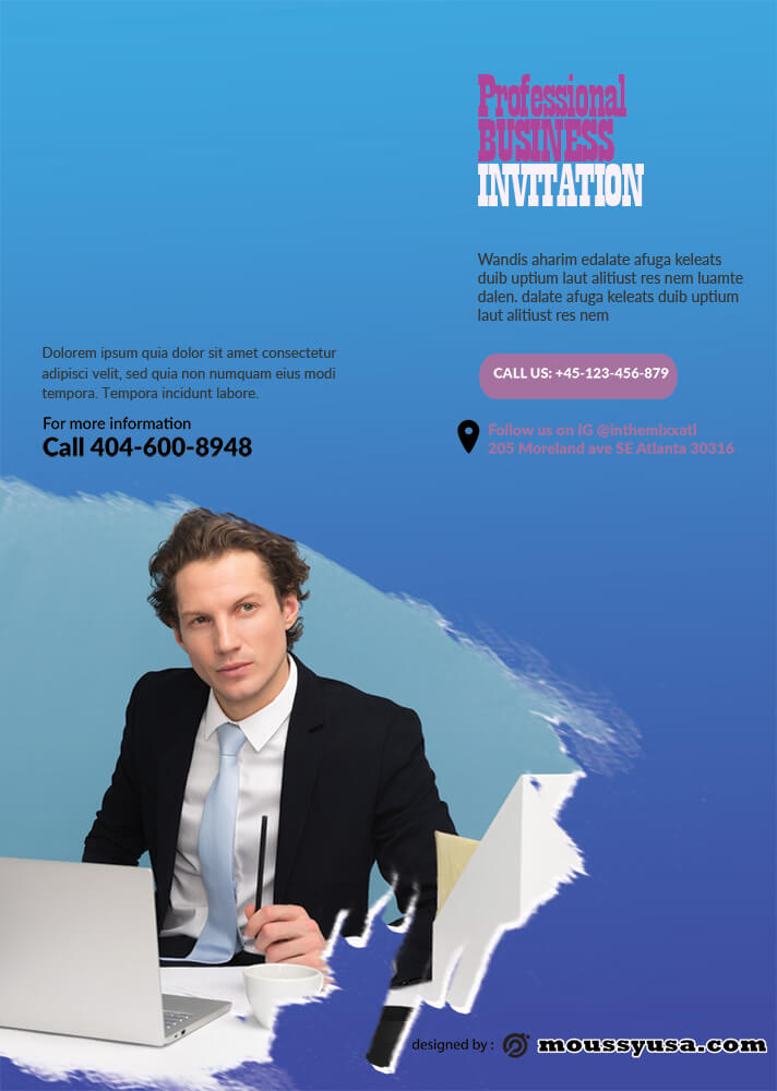 Professional Business Invitation Template Design