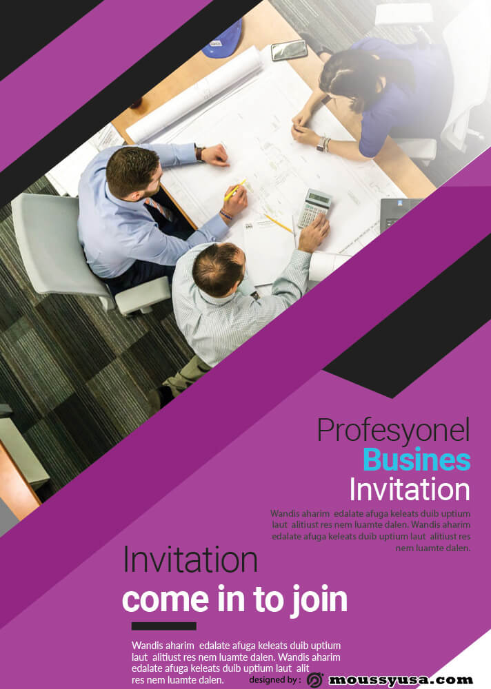 Professional Business Invitation Template Ideas