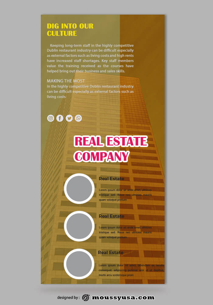Real Estate Rack Card Design PSD
