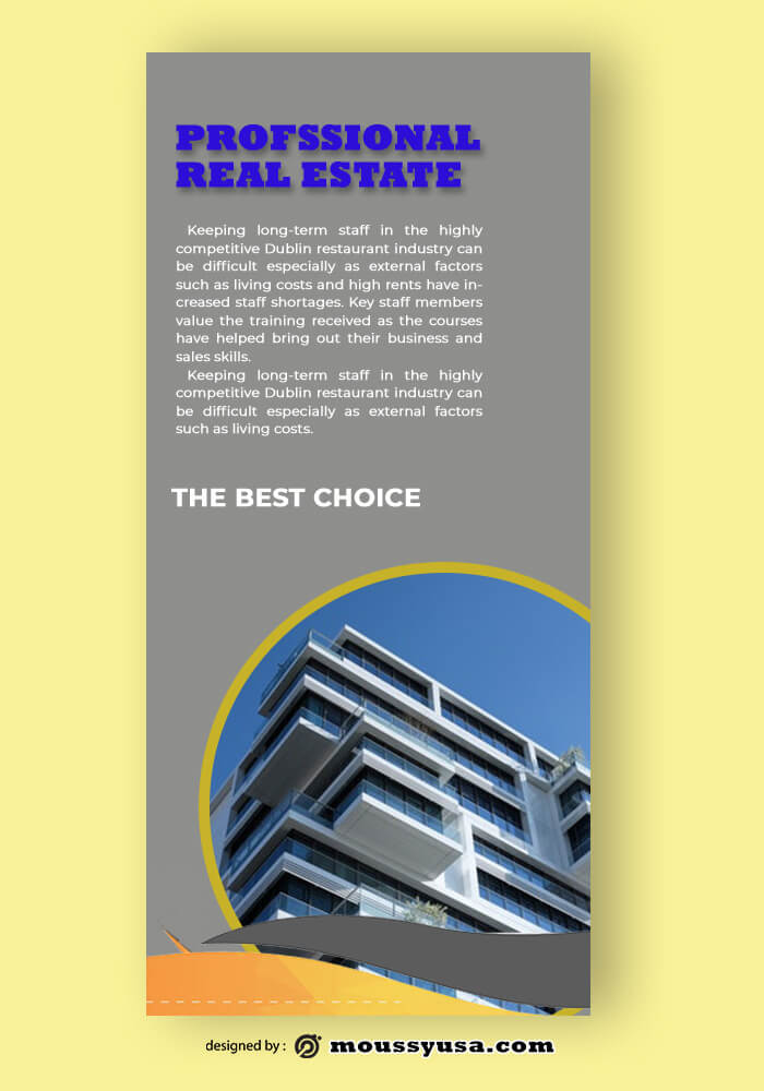Real Estate Rack Card Template Example