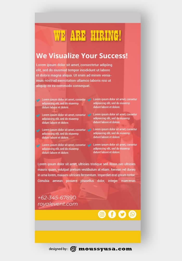 Recruitment Rack Card Templates Ideas
