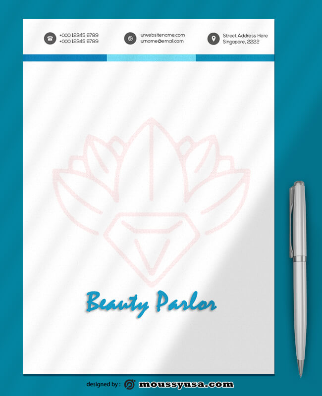 Sample Beauty Parlor Letterhead Template